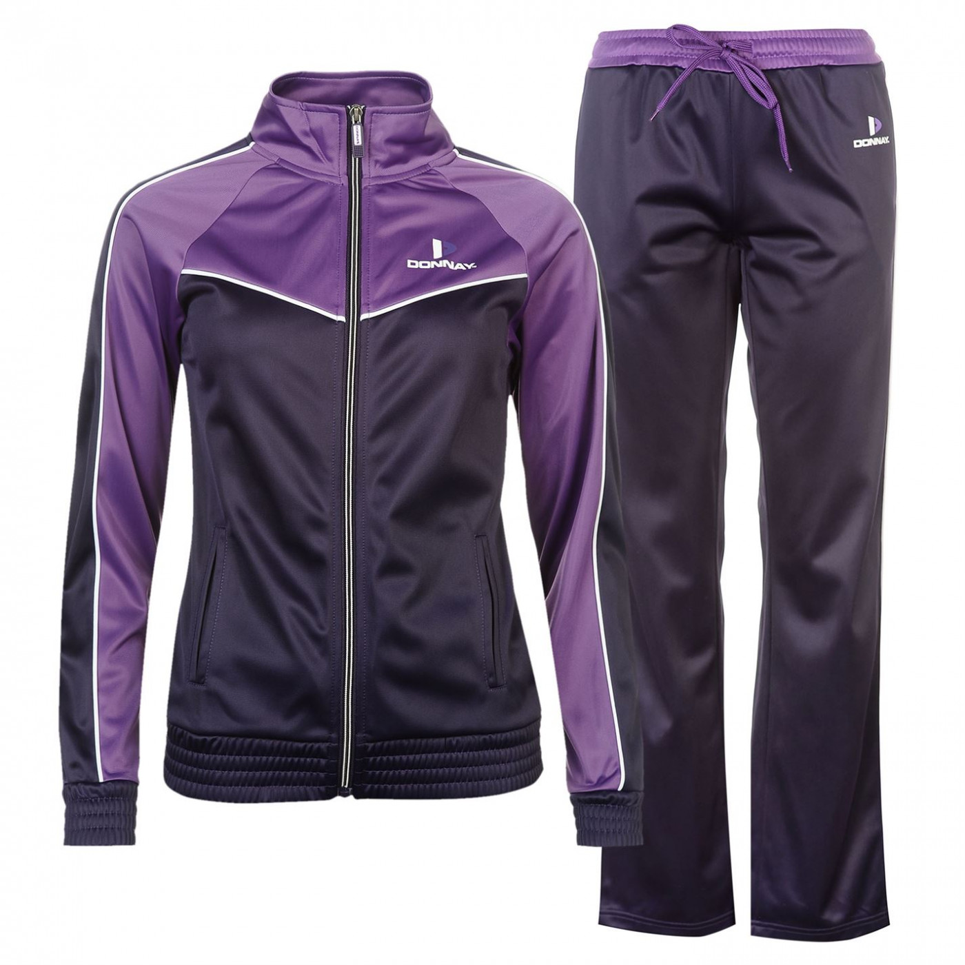 fb8211539e Donnay Poly Tracksuit Ladies - FACTCOOL