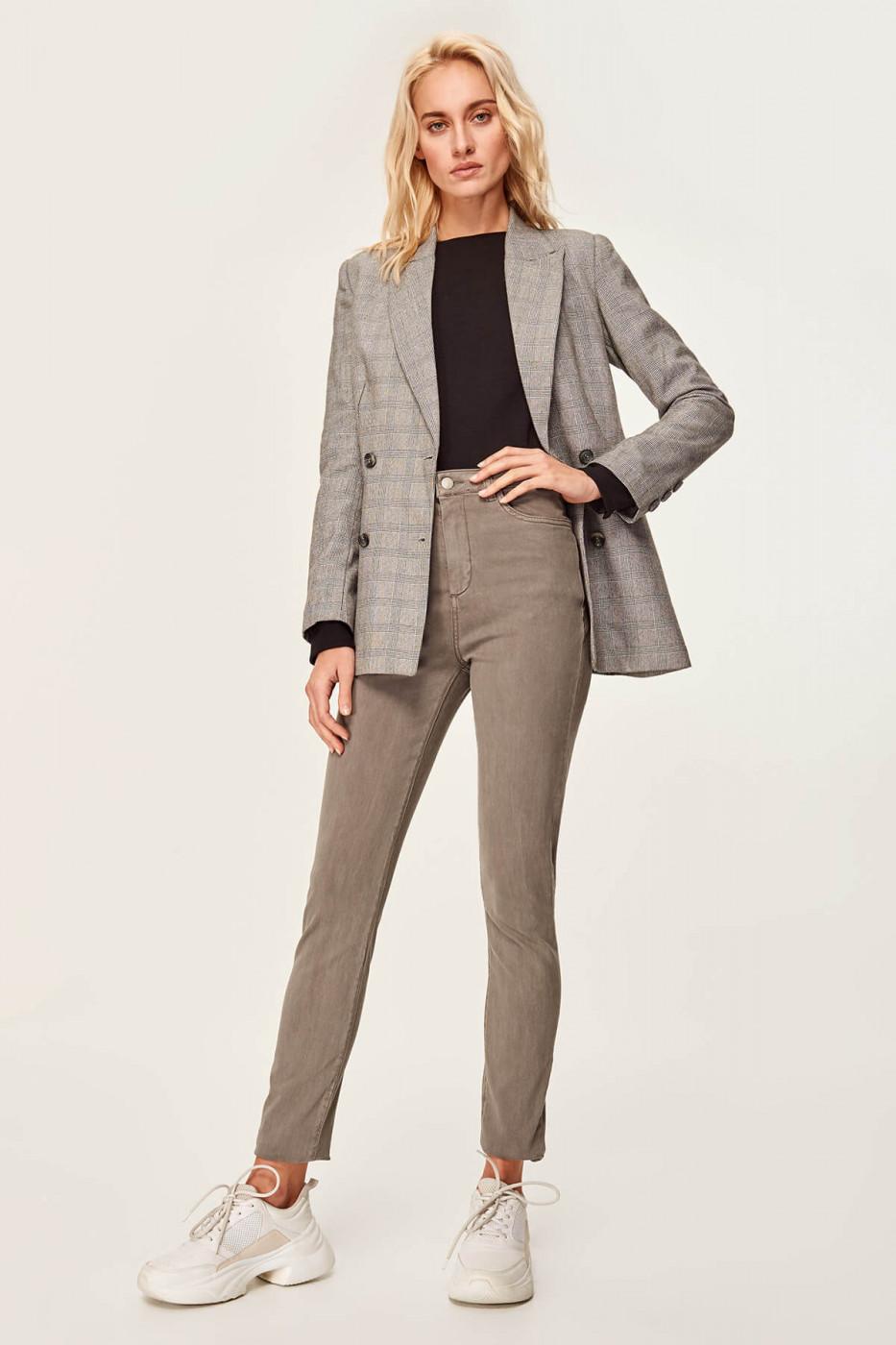 Trendyol Gray High Waist Skinny Jeans