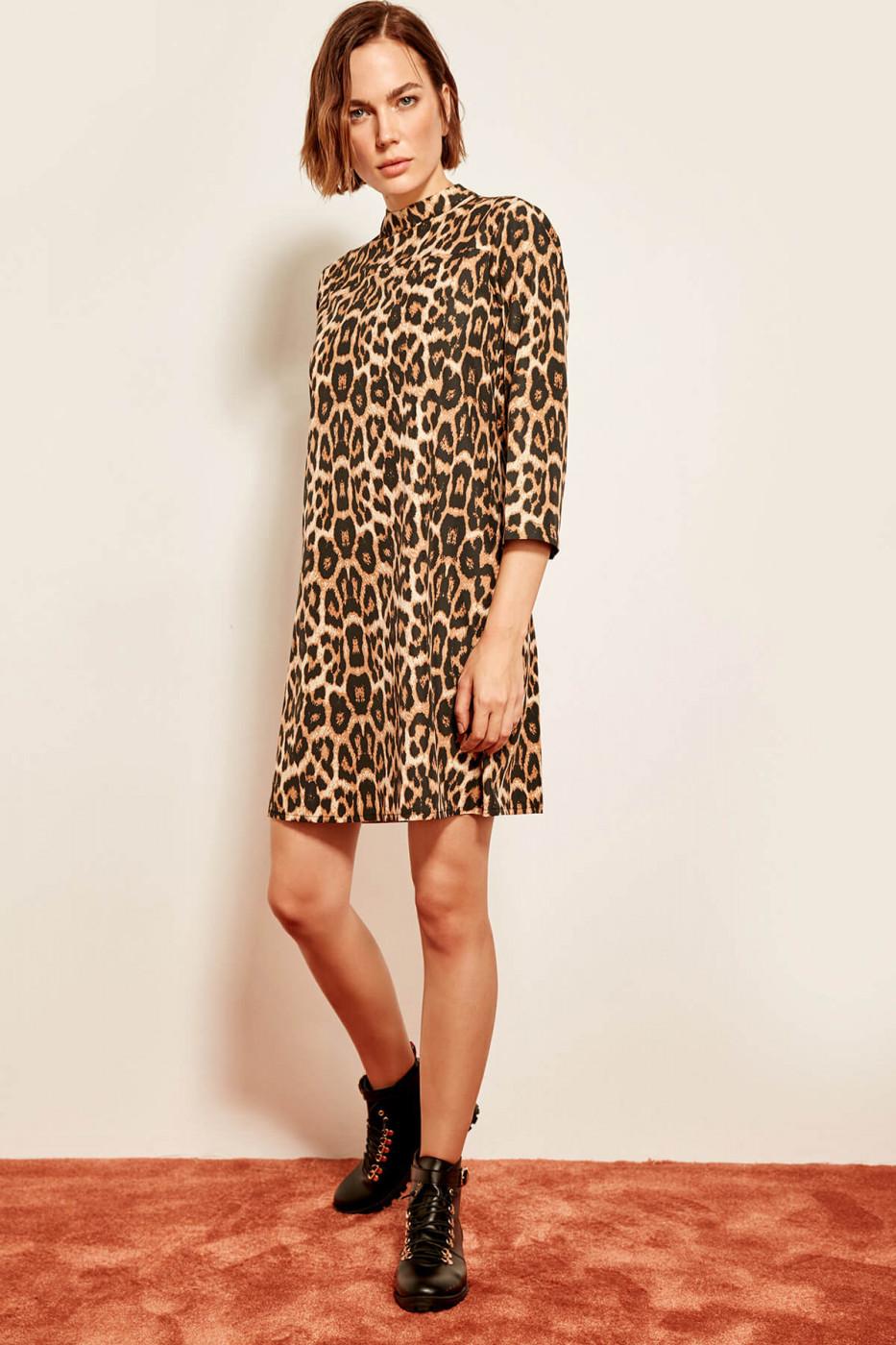 Trendyol Brown Leopard Print Dress