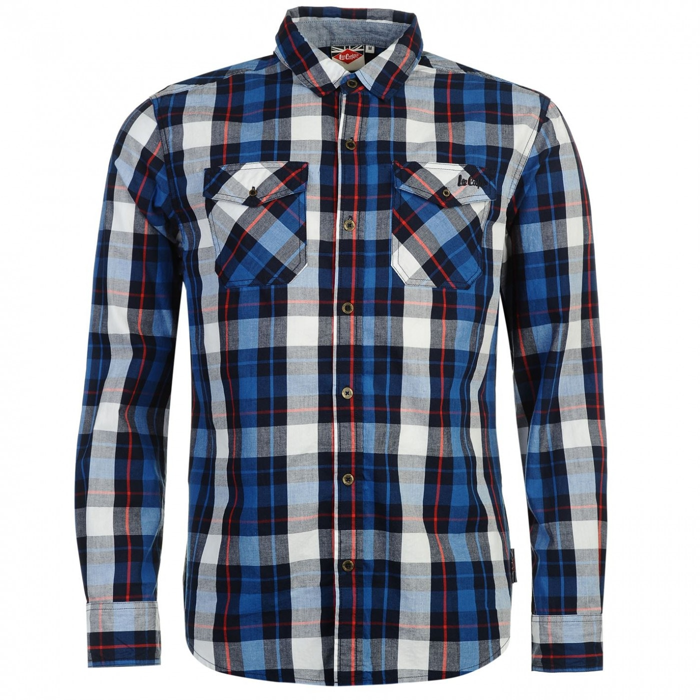 d7ede0464 Lee Cooper Long Sleeve Check Shirt pánské - FACTCOOL