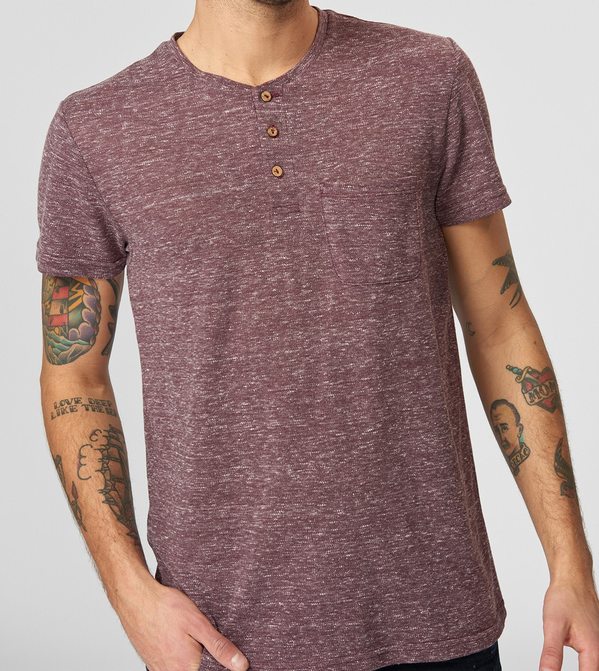 Men's T-shirt Trendyol With Buttons
