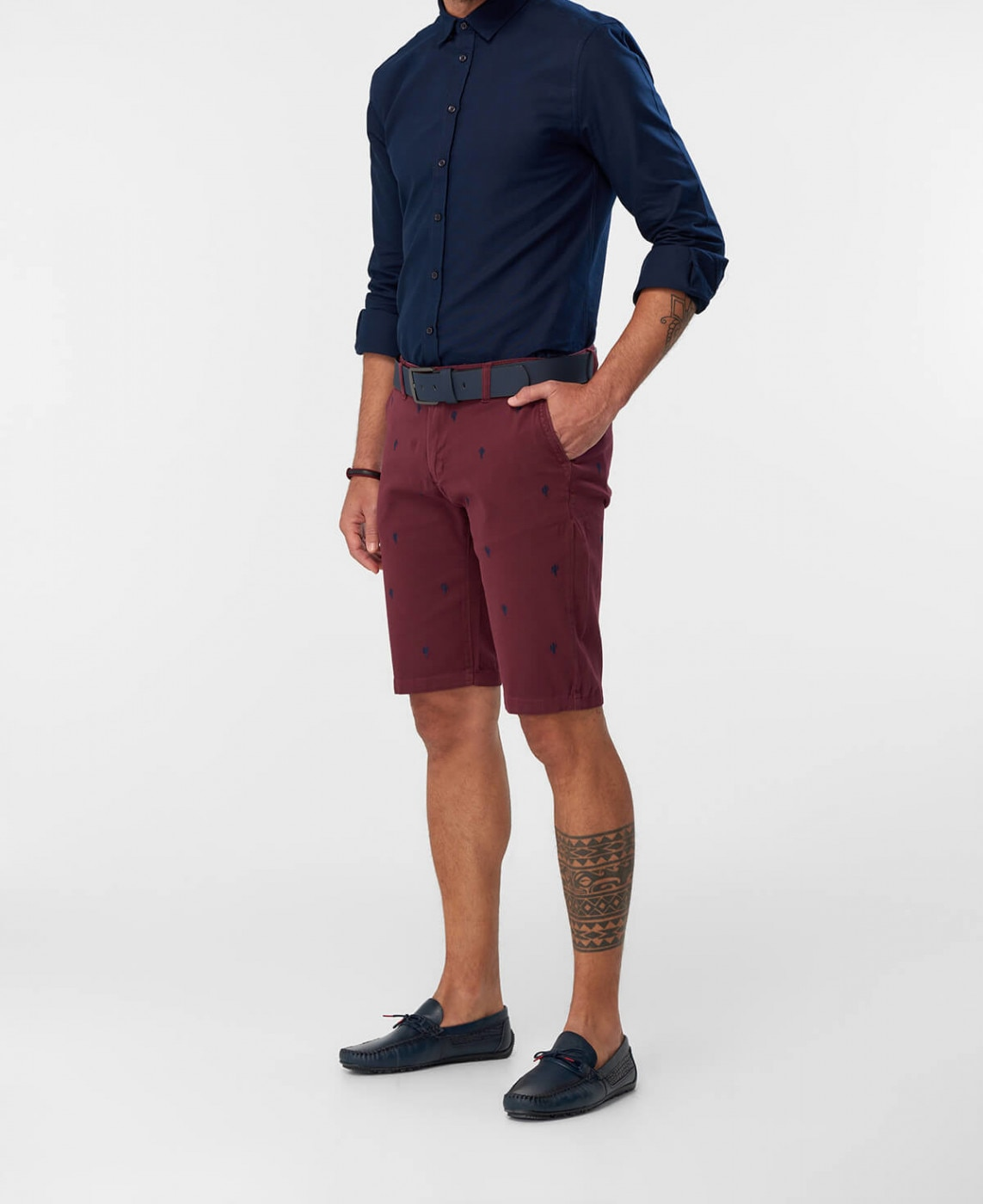 Men's shorts Trendyol Embroidered