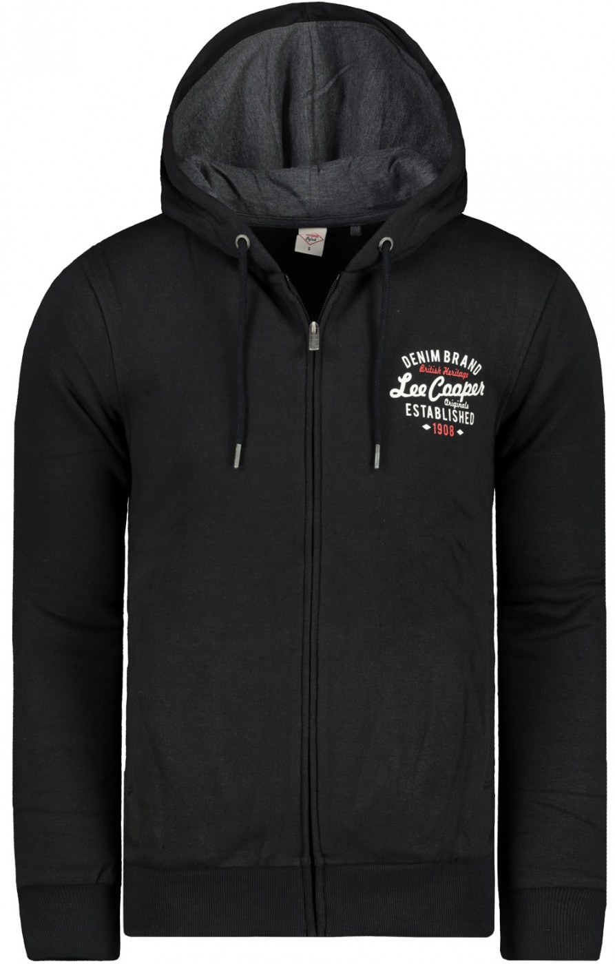 Lee Cooper Zip Through Hooded Sweater Mens