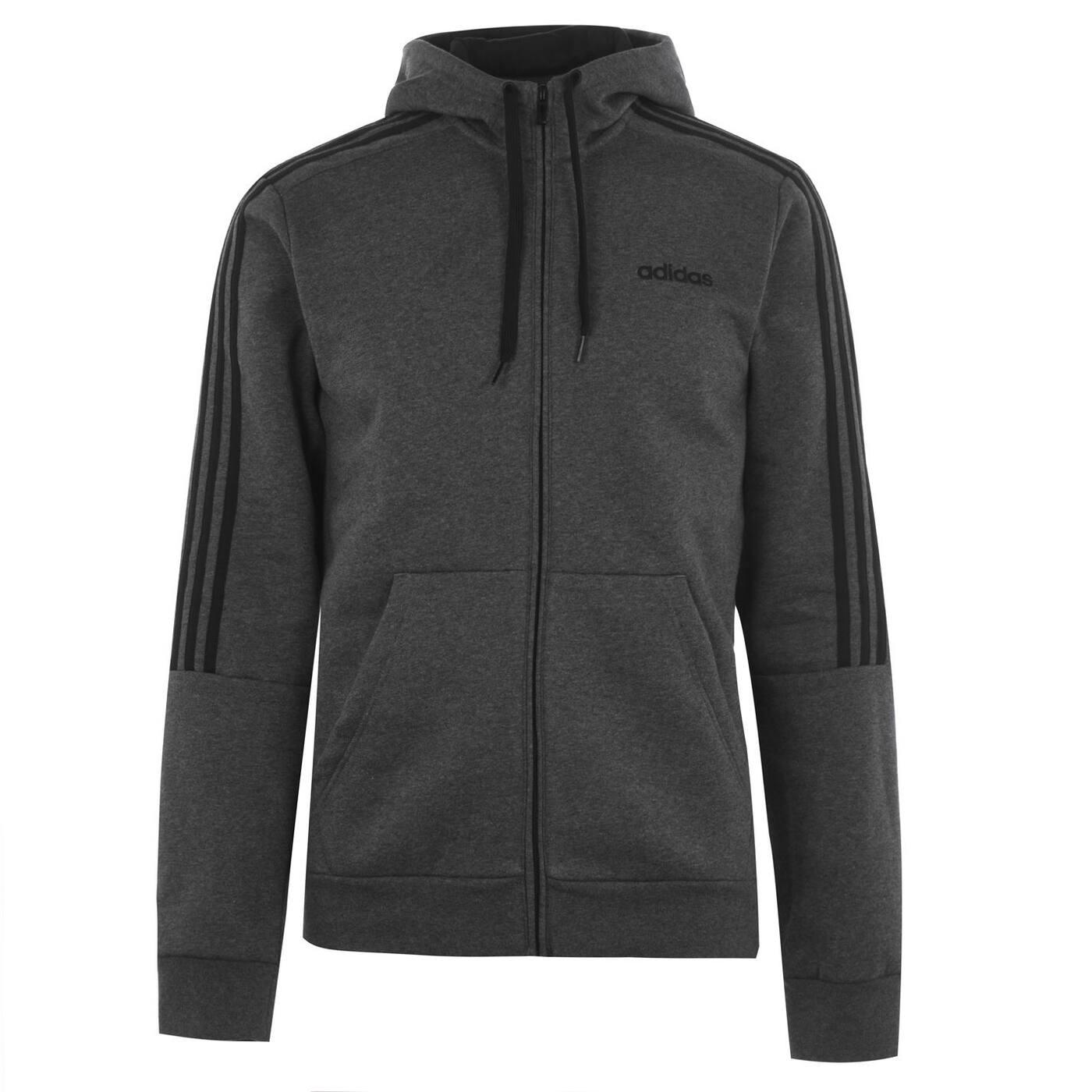 Men's hoodie Adidas 3 Stripe Zipped