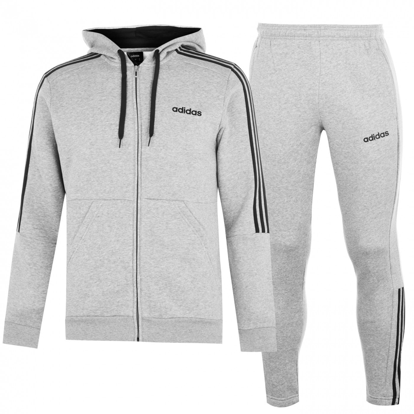 Adidas Three Stripe Jogger Suit Mens
