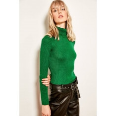 Trendyol Green Turtleneck Basic Sweater