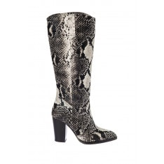 Trendyol Black Snake-Patterned Women Boots