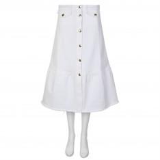 PERSEVERANCE LONDON Peplum Denim Skirt