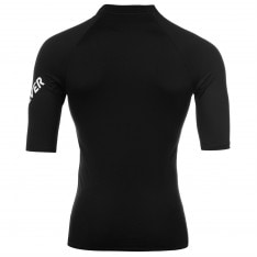 Quiksilver Short Sleeve Logo Rash Vest Mens