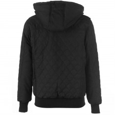 Fabric Quilted Hooded Jacket Mens
