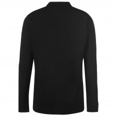 Pierre Cardin Plain Long Sleeve Polo Shirt Mens
