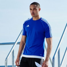 Adidas 3 Stripe Sereno T Shirt Mens