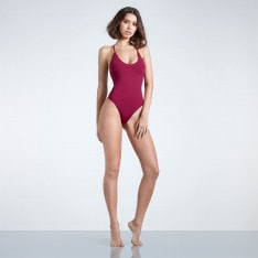 Firetrap Blackseal Cross Back Swim Suit