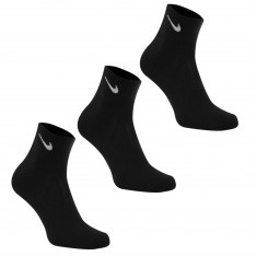 Nike Three Pack Quarter Socks Mens