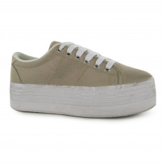 Jeffrey Campbell Play Canvas Wash Trainers