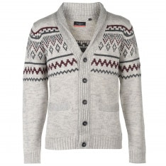 Pierre Cardin FairIsle Cardigan Mens