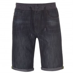 No Fear Rib Waist Denim Shorts Mens