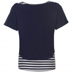 Lee Cooper Striped Double Layer T Shirt Ladies
