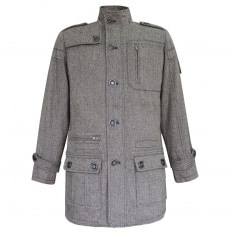 Lee Cooper Wool Coat Mens