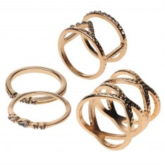 Golddigga Multi Rings Womens