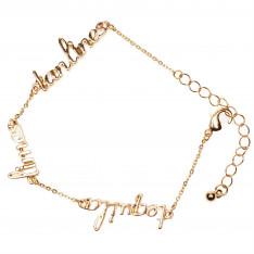 Golddigga Slogan Bracelet Ladies