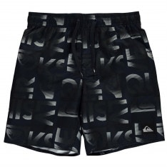 Quiksilver Reef Typo Board Shorts Junior Boys