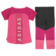 Adidas Infant Girls T-Shirt & Leggings Set