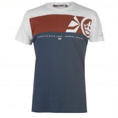 Crosshatch Panel T Shirt Mens