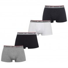 Reebok 4 Pack Trunks Mens