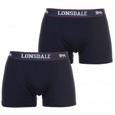 Lonsdale 2 Pack Trunks Mens