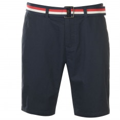 Pierre Cardin Belted Chino Shorts Mens