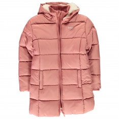 Lee Cooper Two Zip Bubble Jacket Junior Girls