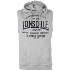 Lonsdale Box Sleeveless Hoody Mens