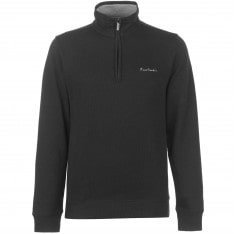 Pierre Cardin Quarter Zip Ribbed Knit Mens