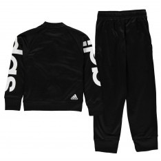 Adidas Poly Tracksuit Junior Girls