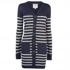 Lee Cooper Stripe Long Cardigan Ladies