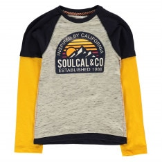 SoulCal Mock Layer Long Sleeve T Shirt Junior Boys