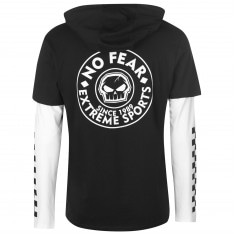 No Fear Long Sleeve Hoody T Shirt Mens