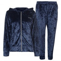 LA Gear Velour Tracksuit Ladies