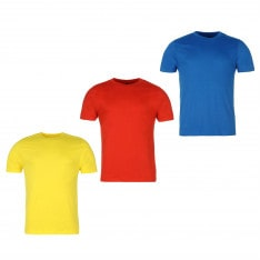 Donnay 3 Pack T Shirts Mens