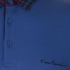 Pierre Cardin Short Sleeve Check Collar Polo Mens