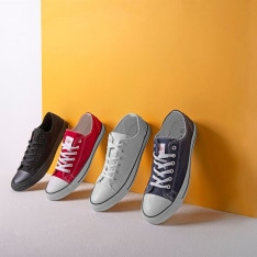 boty Lee Cooper Canvas Lo Shoes pánske