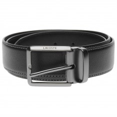 Lacoste Engraved Buckle Leather Belt