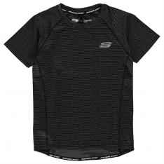 Skechers AOP Poly T Shirt Junior Boys