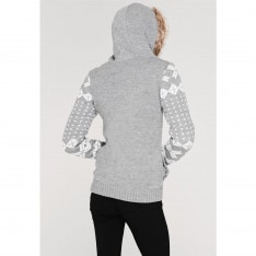 Lee Cooper Hooded Christmas Knitted Jacket Ladies