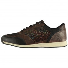 Lee Cooper Maddi Glitter Juniors Trainers