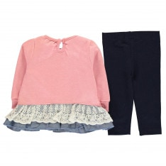 Crafted Mini Frill Top and Leggings Girls Infant