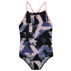Adidas YA All Over Print Swimsuit Junior Girls