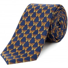 Turner and Sanderson Parkhurst Printed Butterfly Tie