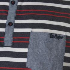 Lee Cooper Stripe Polo Mens